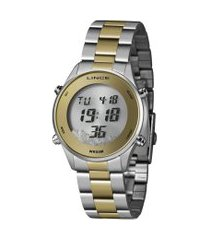 relógio digital lince feminino - sdt4638l prateado