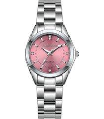reloj cuarzo mujer acero inoxidable chronos ch230 plateado rosa