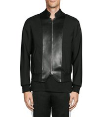 paneled full-zip jacket