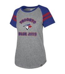 '47 brand toronto blue jays women's fly out raglan t-shirt