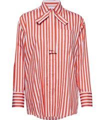 shirt overhemd met lange mouwen rood msgm