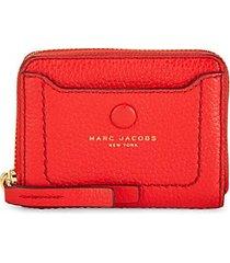 pebbled leather zip-around card case