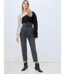 motivi pantaloni carrot misto lana donna grigio