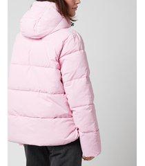 ganni women's heavy tech short coat - sweet lilac - eu 40/uk 12