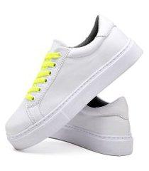 tênis sapatênis casual fashion feminino dubuy 310el branco