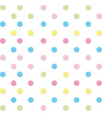 adesivo de parede bolinhas coloridas candy colors 144un - rosa - dafiti