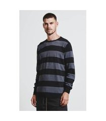 camiseta sweater listrado texture masculina