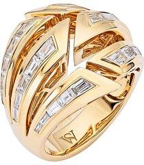 dynamite bombé' diamond 18k gold ring