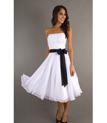 2017 short white homecoming dress cheap gowns for prom party hot black sash