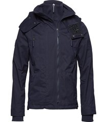 microfibre hooded windattacker dun jack blauw superdry