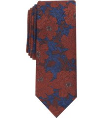 bar iii men's river skinny floral tie, created for macy's