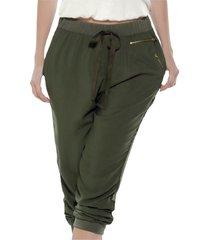 pantalón verde militar atypical