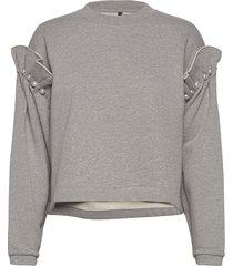 eliza hoodie sweat-shirt trui grijs mother of pearl