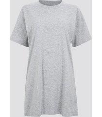 oversized t-shirt i ekologisk bomull - melerad grå