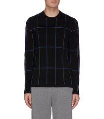'mailo milos' contrast topstitch sweatshirt