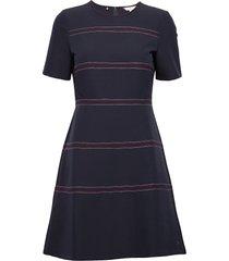 angela stitch dress ss jurk knielengte blauw tommy hilfiger