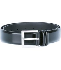orciani brushed blue leather belt