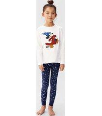 bedrukte mickey mouse pyjama