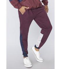 pantalon de buzo bloques tricolor navy corona