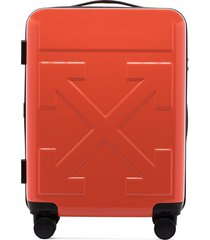 off-white quote carry-on suitcase - red