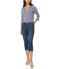 nydj chloe capri zip-ankle jeans