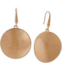 laundry by shelli segal gold-tone disc drop earrings