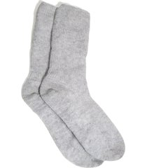 women's the white company cashmere bed socks, size one size - grey