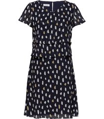 dress woven fabric korte jurk blauw gerry weber