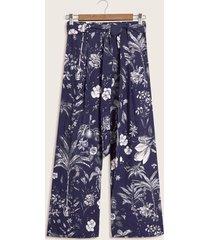 pantalon estampado azul 4