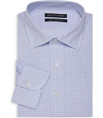 slim-fit checker dress shirt