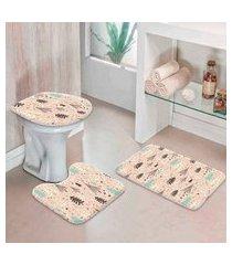 jogo tapetes de natal para banheiro arvores abstratas único