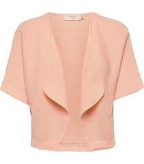 crsillar knit bolero stickad tröja cardigan rosa cream