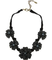 miriam haskell new york large flower frontal necklace