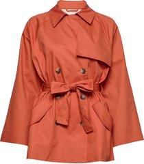 slchicago short trenchcoat trench coat rock orange soaked in luxury