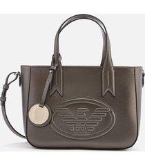 emporio armani women's frida small eagle tote bag - gun metal