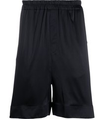 laneus relaxed-fit pull-on shorts - black