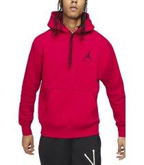 men's jordan jumpman air fleece hoodie, size xx-large - red
