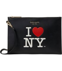 kate spade new york i heart ny leather pouch wristlet