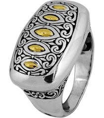 bali heritage classic ring in sterling silver and 18k yellow gold accents