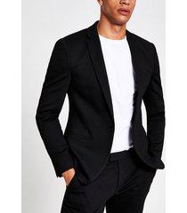 river island mens black super skinny suit jacket
