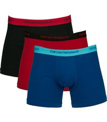 armani boxershort ea 3-pak rood-blauw-zwart