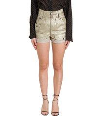 saint laurent cargo shorts in coated linen