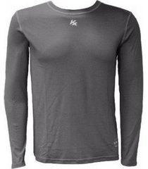 camiseta manga longa kanxa térmica com proteção uv 50 fps cinza
