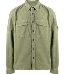 c.p. company flap-pocket corduroy shirt - green