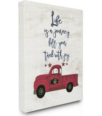 "stupell industries fill your tank with joy vintage-inspired truck illustration canvas wall art, 30"" x 40"""