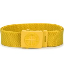 stone island junior compass logo belt - yellow
