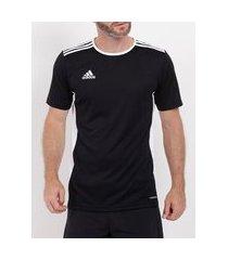 camiseta esportiva adidas entrada18 masculina preto/branco