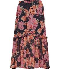 bernard skirt knälång kjol rosa residus