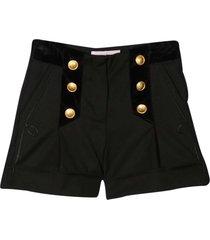 alberta ferretti black shorts teen