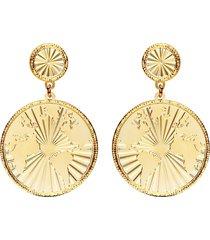 orecchini pendenti mondo bronzo dorato per donna